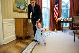 file president obama and one year old lincoln rose smith in the