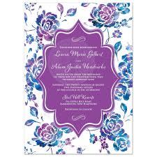 Purple Wedding Invitations Purple And Turquoise Wedding Invitations Reduxsquad Com