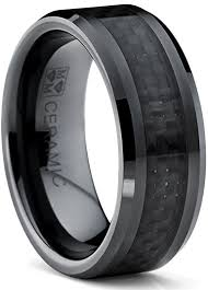 ceramic wedding bands 8mm flat top men s black ceramic ring wedding band with black