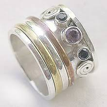 worry ring meditation rings sterling silver brass copper worry rings