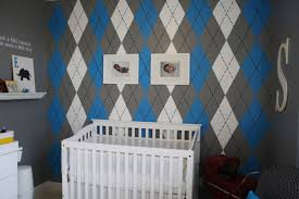 modern boys nursery interior decorating ideas argyle wall the