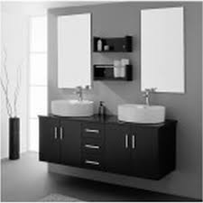 Bathroom White Porcelain Flooring Stainless by Black And White Bathroom Wall Art White Countertop Sink Above It