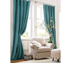 Pottery Barn Curtain Hardware Decor U0026 Tips Turquoise Curtain Panels And Velvet Drapes With Tie