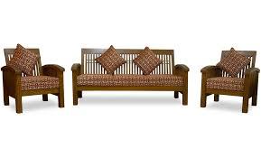 Vision Teakwood Sofa Set - Teak wood sofa sets