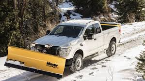 nissan truck white nissan titan xd snow plow package is ready for a white christmas
