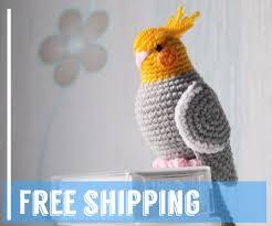 amigurumi parrot toy bird crochet love parrot gift for child