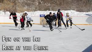 fun on the ice rink at the brink in niagara falls ontario youtube