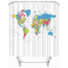 China World Map by Online Buy Wholesale World Map Shower Curtain Fabric From China