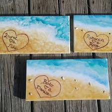 names in the sand custom personalized painting of beach