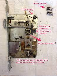 Old Knobs How Do I Repair This Old Door Lock Home Improvement Stack Exchange