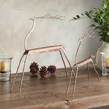 sundance home decor copper top reindeer set of 2 robert redford u0027s sundance catalog