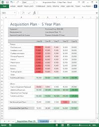 acquisition plan template ms word u0026 excel