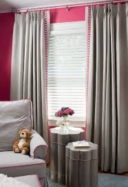 Gray And Pink Curtains Pink And Gray Nursery Design Contemporary Nursery Benjamin