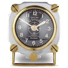Cool Desk Clocks by Altimeter Table Clock Aluminum U2014 Pendulux