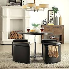 round dining set metal coffee table ottoman storage chairs