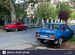 renault europe two old dacia renault 12 r12 parked in targu mures carpathian