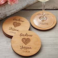 wedding coasters rustic wedding party favors personalized coasters