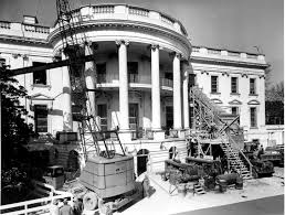 The White House Interior by File Removing Debris From The Renovation Of The White House 02 27