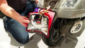 vespa gts led brake light upgrade youtube