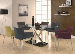Contemporary Upholstered Dining Room Chairs Coaster Modern Dining Contemporary Dining Room Set With Glass