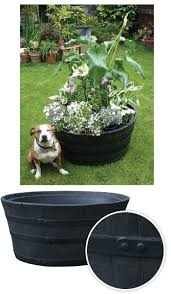 Half Barrel Planter by Ecosure Half Barrel Planter