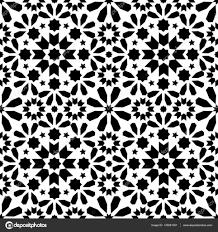 geometric seamless pattern moroccan tiles design seamless black