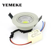 warm led recessed lights dimmable cob led ceiling spotlight 5w led recessed lighting fixtures