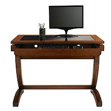Office Depot Glass Computer Desk Realspace Coastal Ridge Writing Desk Mahoganyblack Glass By Office