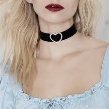 black ribbon choker necklace images 2018 new chokers necklaces for women fashion black ribbon collars jpg