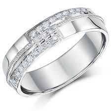 bridal ring sets uk 6mm mens 9 carat white gold diamond set wedding ring band 9ct