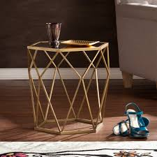 features geometric glam style hollow table for peek a boo