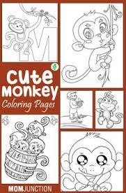 monkey bananas coloring printables kids u2013 free