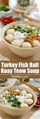 thanksgiving noodles recipe turkey fish ball koay teow soup roti n rice