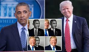 Barack Obama Meme - donald trump retweeted a pretty weird barack obama eclipse meme