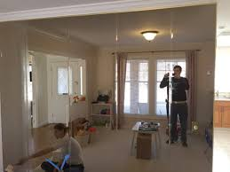 Mirror Dining Room Diy Project Removing Floor To Ceiling Mirrors From A Wall In Our