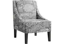 Black And White Accent Chair Affordable Gray Accent Chairs Rooms To Go Furniture