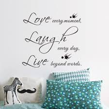 free shipping live love laugh letters star transprent waterproof