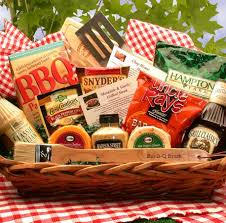 snack baskets 14pc barbecue themed gift basket with bbq utensils sauces and recipes
