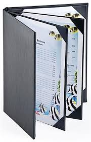 8 1 2 x 11 photo album restaurant menu holder 4 page cover w synthetic leather finish