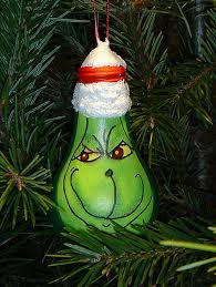 The Grinch Christmas Lights Recycled Light Bulb Christmas Decorations Weirdomatic