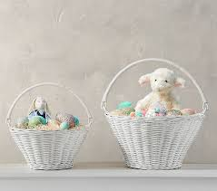 basket easter white sabrina collapsible handle easter basket pottery barn kids