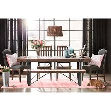 Plank Dining Room Table Posh Picnic The Bryce Dining Room Table Brings Back The Casual