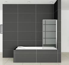 affordable folding shower screens aica bathrooms ltd 900 x 1400mm 2 fold folding shower glass bath screen