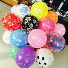 big balloons decahedron printed wedding happy