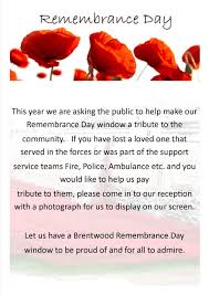bennetts funeral directors remembrance day 2015 window display