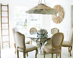 wingback dining chair dining room eclectic with driftwood mirror
