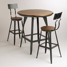 Patio Furniture For Big And Tall by Hudson Pub Table Acacia Wood Industrial And Woods