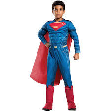 Child Halloween Costumes Batman Superman Dawn Justice Deluxe Superman Child