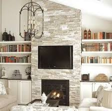 Fireplace Bookshelves by Diy Planked Fireplace Fireplace After Ranch Renovation Marble