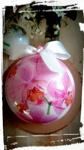 christmas bauble pink orchid christmas ornaments wedding bauble a